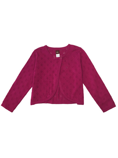'Dharla' Pointelle Cotton Cardigan, Toddler Girls