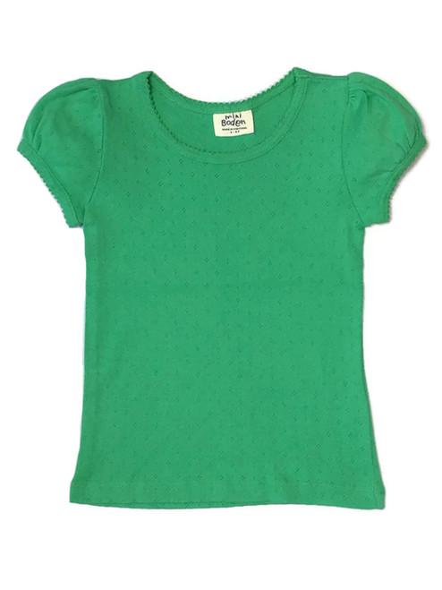Green Pointelle Tee, Toddler Girls