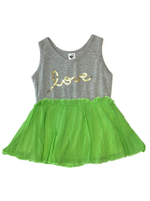 Sequined Love Tank Top, Little Girls