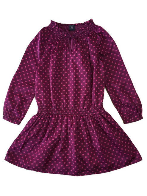 Purple Polka Dot Dress, Little Girls