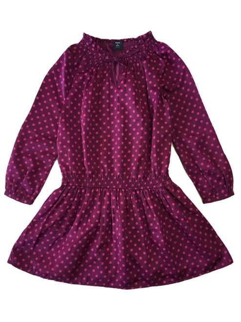 Purple Polka Dot Dress, Little Girls