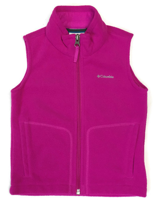 Bright Pink Fleece Vest, Toddler Girls