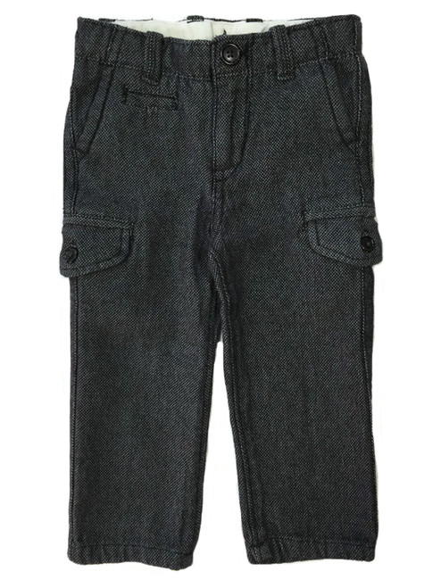 Gray Tweed Cargo Pants, Toddler Boys