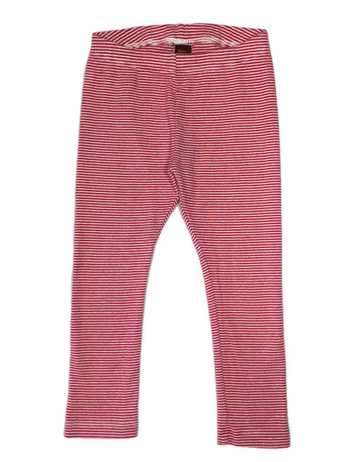 Red Striped Leggings, Toddler Girls