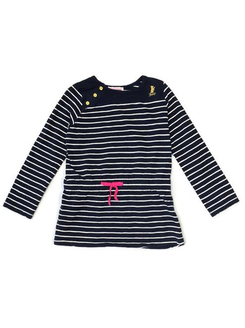 Navy Blue Striped Tunic, Little Girls