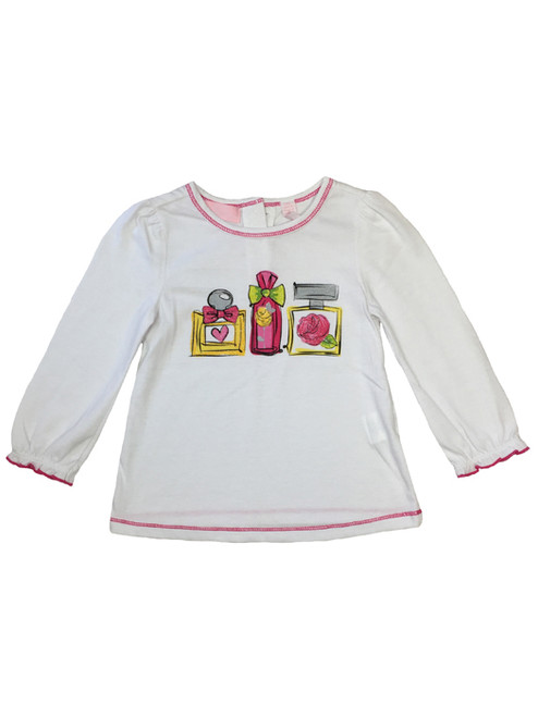 Floral Bottles Graphic Tee, Baby Girls