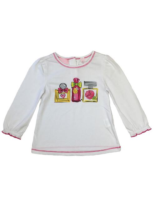 Perfume Bottles Graphic Tee, Baby Girls