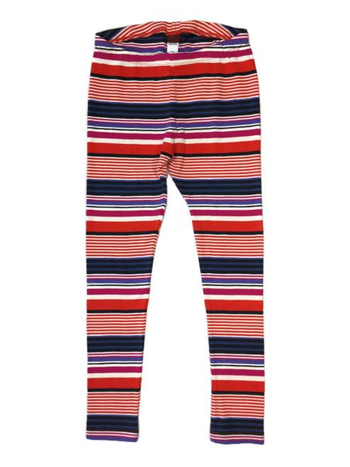 Multi-colored Striped Leggings, Little Girls