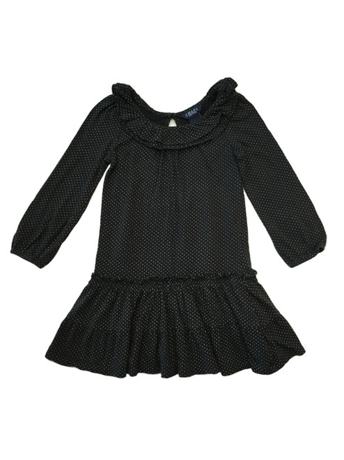 Black Ruffle Dress, Toddler Girls