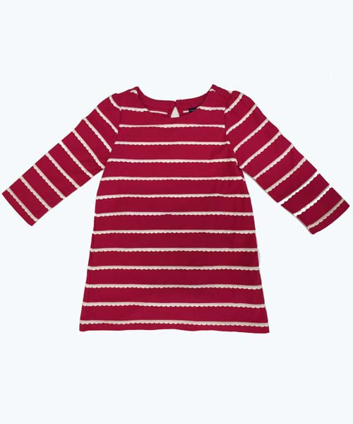 Scallop Stripe Dress
