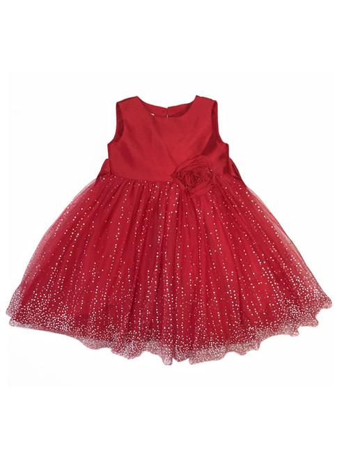 Red Glitter Tutu Holiday Dress, Toddler Girls