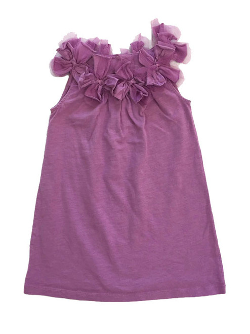 Light Purple Tulle Neckline Dress, Little Girls