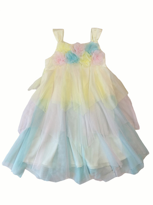 Pastel Tulle Ruffle Dress, Little Girls