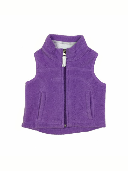 Light Purple Fleece Vest, Baby Girls