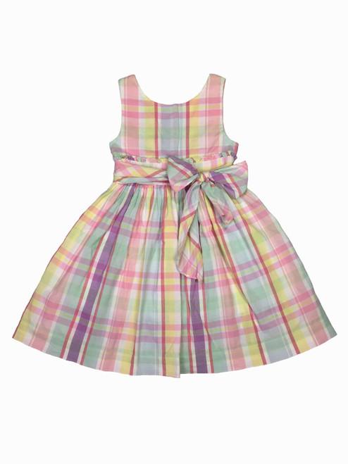 Pastel Plaid Dress, Little Girls