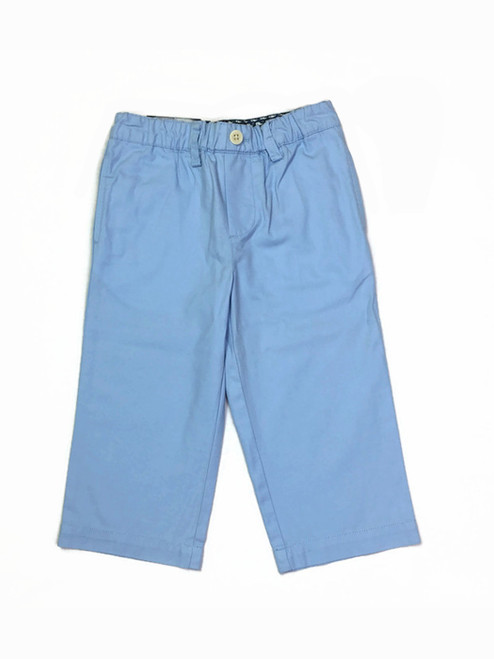 Solid Blue Nautical Twill Pants, Toddler Boys