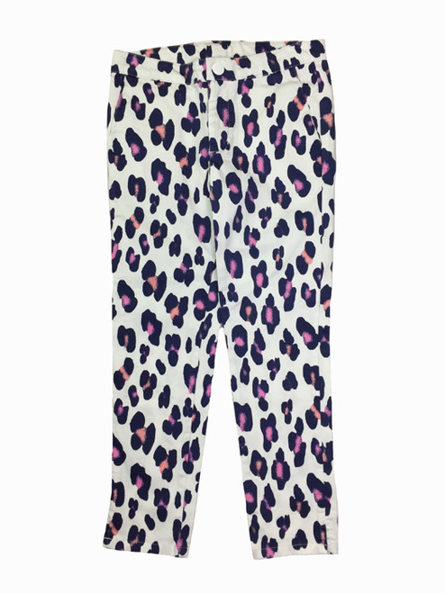 Pink & Navy Leopard Prints Pants, Little Girl