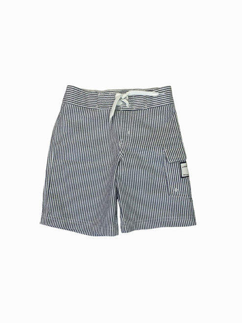 Navy Striped Seersucker Swim Trunk, Toddler Boys