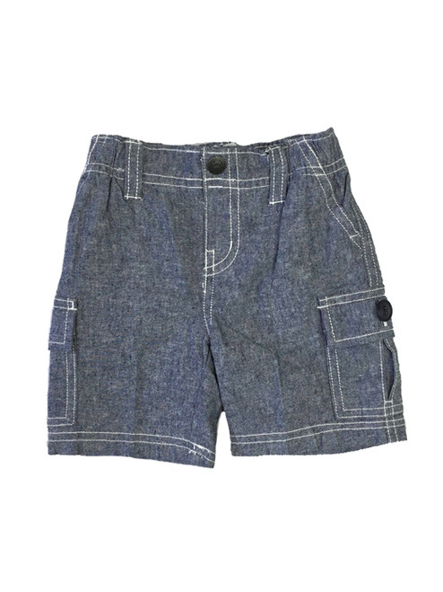 Chambray Cargo Shorts, Baby Boys