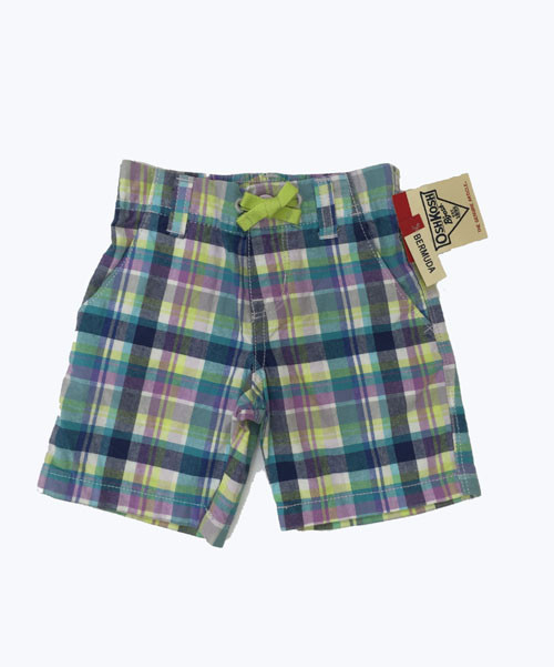Purple and Green Plaid Shorts, Toddler Girls
