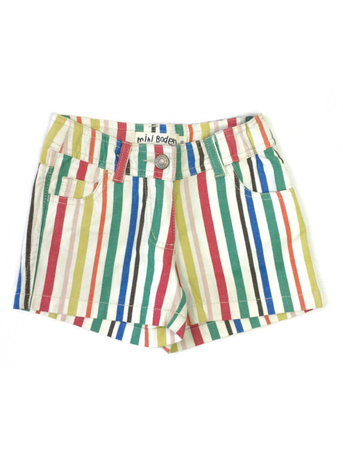 Striped Heart Pocket Shorts, Little Girls
