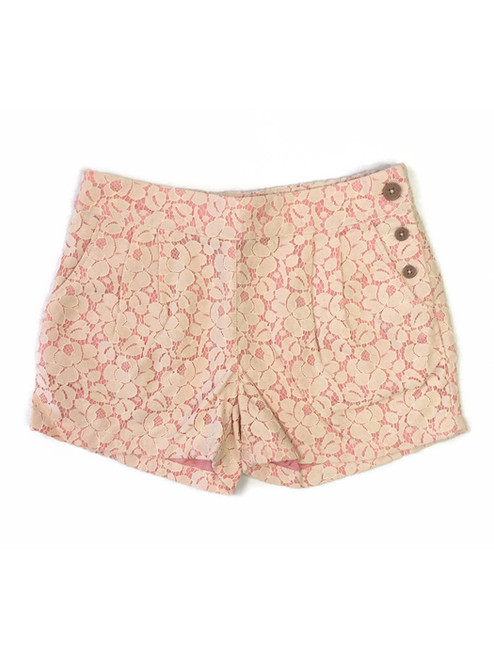Coral Lace Shorts, Little Girls