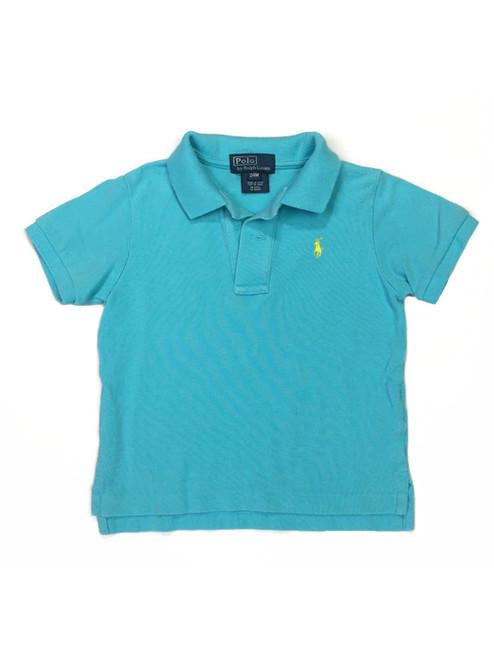 Aqua Pique Polo Shirt, Baby Boys