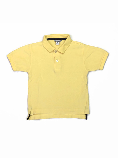 Yellow Pique Polo Shirt, Toddler Boys