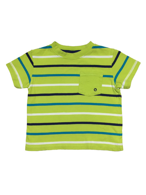 Green Striped Tee, Baby Boys