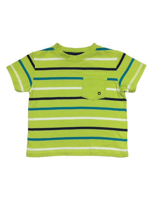 Green Multi Stripe Tee, Baby Boys