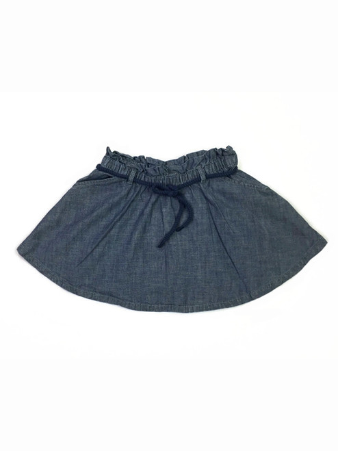 Chambray Skirt with Belt, Little Girls