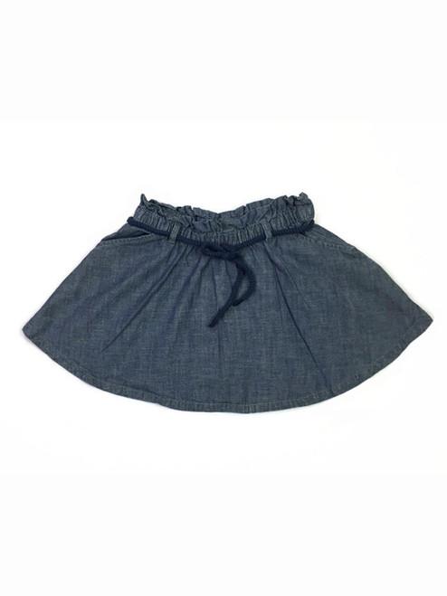 Chambray Skirt with Belt, Little Girls