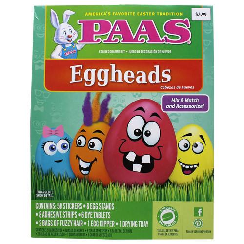 PAAS EGGHEAD EGG DECO KIT($3.99)   .