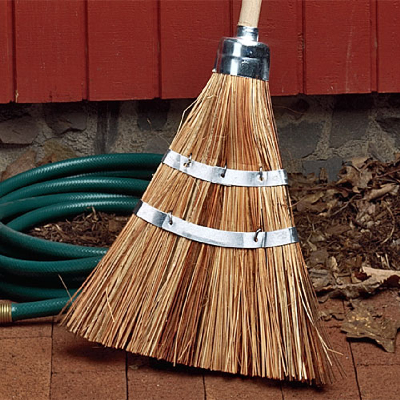 Blueberry Art For A Cause Durable Yard and Gardening Equipment From CuteTools! Landscaping Instrument Hand Painted Wooden Broomstick In The USA Sweep and Dust With This Garden Accessory Cute Tools Garden Broom