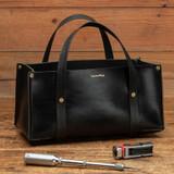 Premium Black Leather Tool Bag