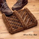 Shoe-Size Coir Mat