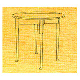Small Queen Anne Table - Stock #23