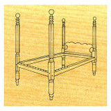 Cannon Ball Bedstead - Stock #59