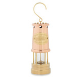 "8"" Brass & Copper Oil Lamp"