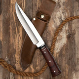 Large Bowie Knife with Leather Sheath