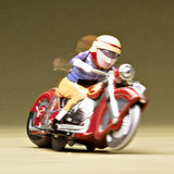 Retro Tin Racing Motorcycle