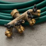 4-Way Faucet Manifold - All Brass