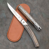 Secret Knife with Horn Scales