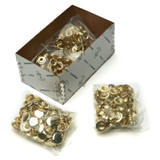 Box Solid Brass Snaps (100)