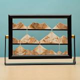 Framed Hypnotic Sand Art- 20 x 14 cm Orange Sand