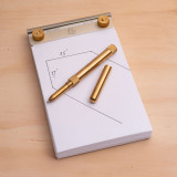 Solid Brass Rollerball Pen - Machined