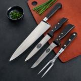 Set of Three Vintage Carving Knives Plus Fork