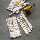 French Made Set of 12 Color Puzzle Pencils