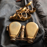 Compact Brass Binoculars