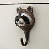 Raccoon Carved Coat Hook